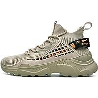 Homejuan Mens-Walking-Schuhe Outdoor-Lace Up Anti-Rutsch-Milit/ärstiefel Leichte Atmungsaktive Kletterschuhe