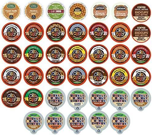 Custom Variety Pack Decaf Flavored Coffee Single Serve Cup for Keurig K cup – 40 Count