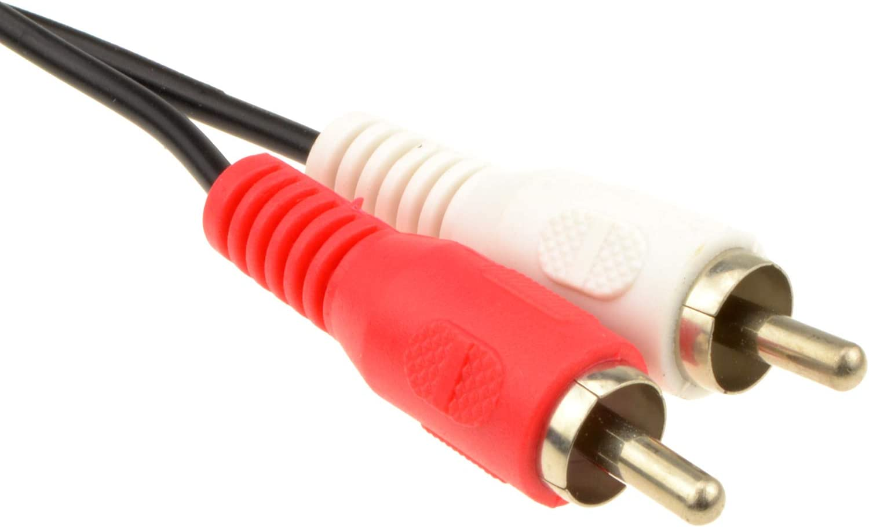 ~4 feet Single RCA Phono Plug to 2 x Phono Plugs Screened Cable Lead 1.2m