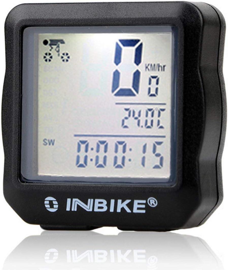 per la Maggior Parte delle Bici tachimetro retroilluminazione LCD Tellaboull for Contachilometri Bicicletta Impermeabile ciclocomputer Digitale