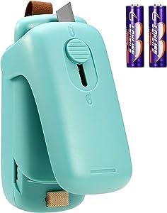 ORIA Mini Bag Sealer, 2 in 1 Handheld Heat Sealer and Cutter, Portable Bag Resealer Machine for Food Storage and Resealing Snack Bags