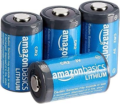 AmazonBasics - Pilas de litio CR2 de 3 V, Pack de 4: Amazon.es: Electrónica