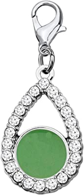 For Alpha Kappa Alpha AKA Pink And Green Pearl Ivy Charm And Brooch//pin