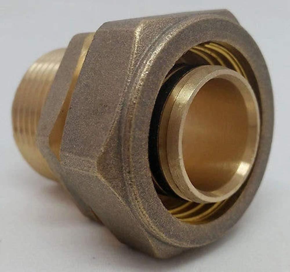 "3//4/"" PEX-AL-PEX Compression x Male Threaded Brass Adapter Fitting"