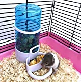 (US) Automatic Pet Feeder, Hamster Hedgepig Rabbit Bird Small Animal Feeding,Water Food Dispenser With Holder By Cydnlive