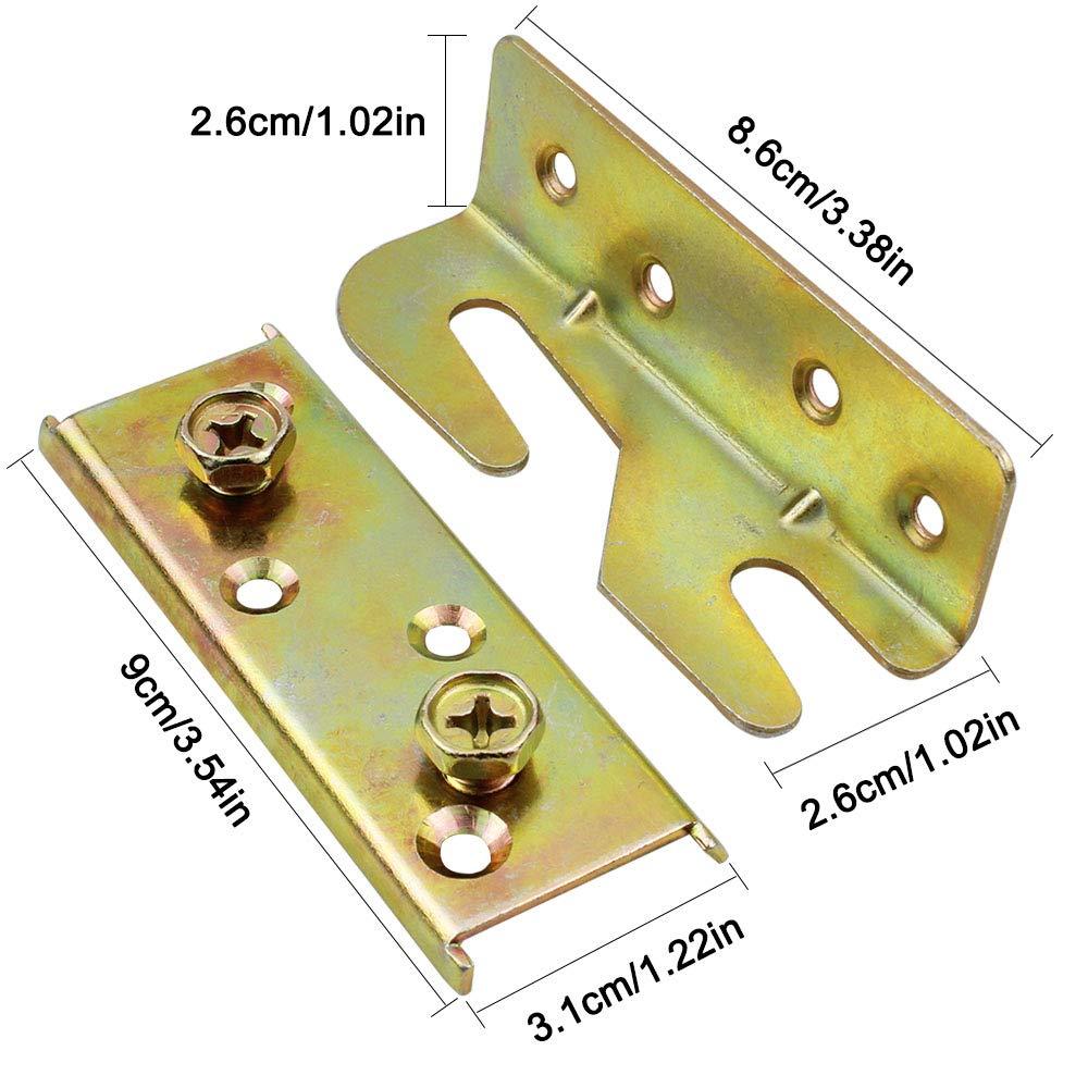 Befestigungsmaterial rostfrei f/ür Bettgel/änder Dreamtop 4 Sets Bettgel/änder ohne Einstecken Schrauben und magnetischer Bithalter im Lieferumfang enthalten Halterungen strapazierf/ähig