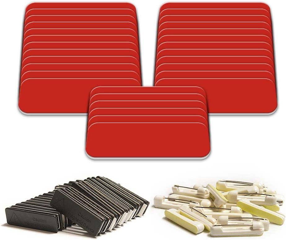Blank Metal Name Tags Name Badges Zinc Gunmetal Size 14 x 31 mm 5 pcs SC Gun9 0196