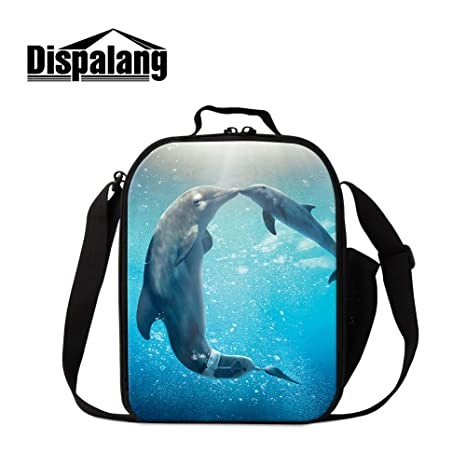 7047331b48ab87 Image Unavailable. Image not available for. Color: Dispalang Dolphin Lunch  Bags for Children Cute Animal Shark Print Small Insulated Cooler Bags for  Girls