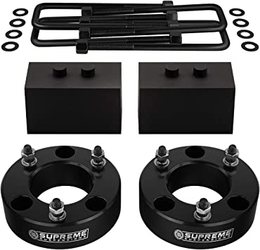 Ford F150 Full 2 Front 1.5 Rear Suspension Leveling Lift Kit 4WD 4x4 Silver Supreme Suspensions PRO