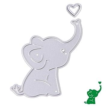 Bottone troqueles de corte de metal plantilla para molde para tarjeta de papel DIY álbum de recortes Craft Decoración Nuevo (elefante bebé): Amazon.es: ...