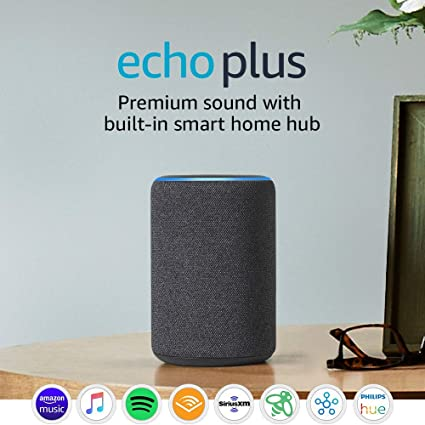 Amazon Com Certified Refurbished Echo Plus 2nd Gen Premium Sound With Built In Smart Home Hub Dark Charcoal Amazon Devices