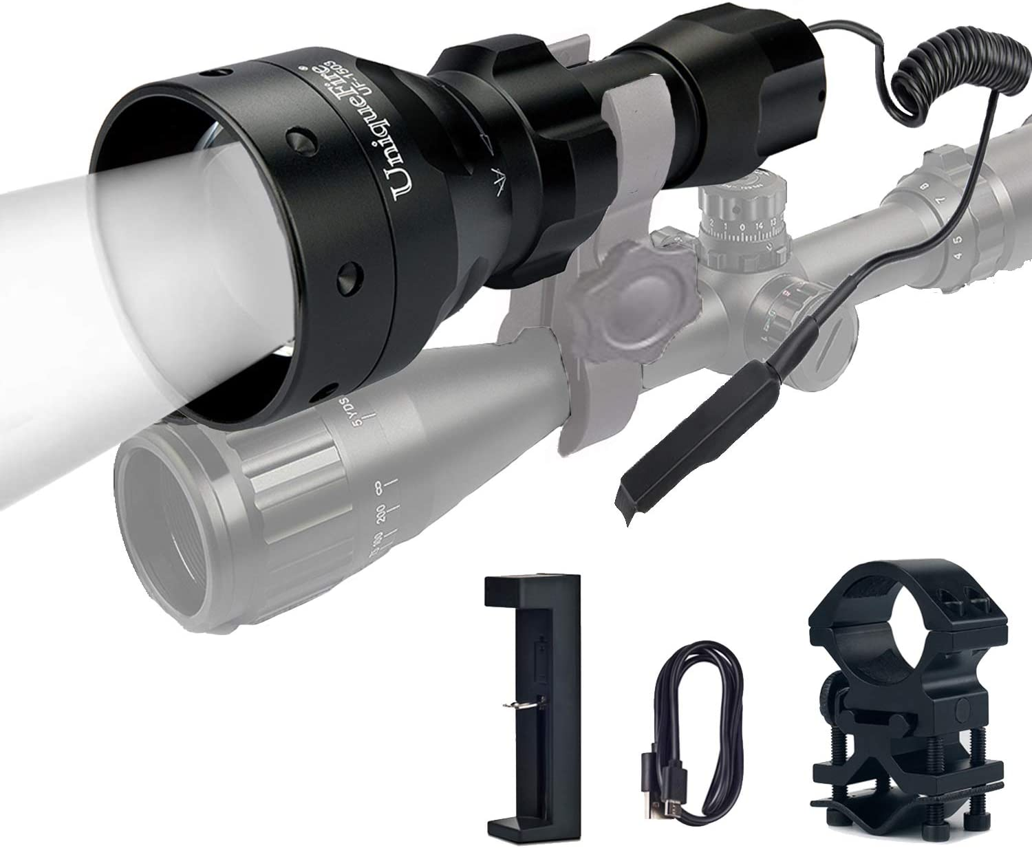 Zoom T50 IR 850NM LED Flashlight Hunting Focus Zoomable Light Laser Night Vision