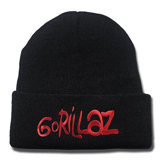 Amazon.com  Gorillaz Band Logo Beanie Fashion Unisex Embroidery ... 1aa00c760bc