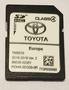 Tarjeta SD GPS Europe TNS510 Toyota 2018-2019 Ver.2 - PZ445-SD333-0R