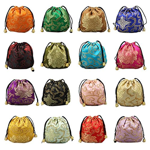 TOOGOO(R) 10x Gift Bag Set Jewelry Package Chinese Style Gift Bags Ramdom Color