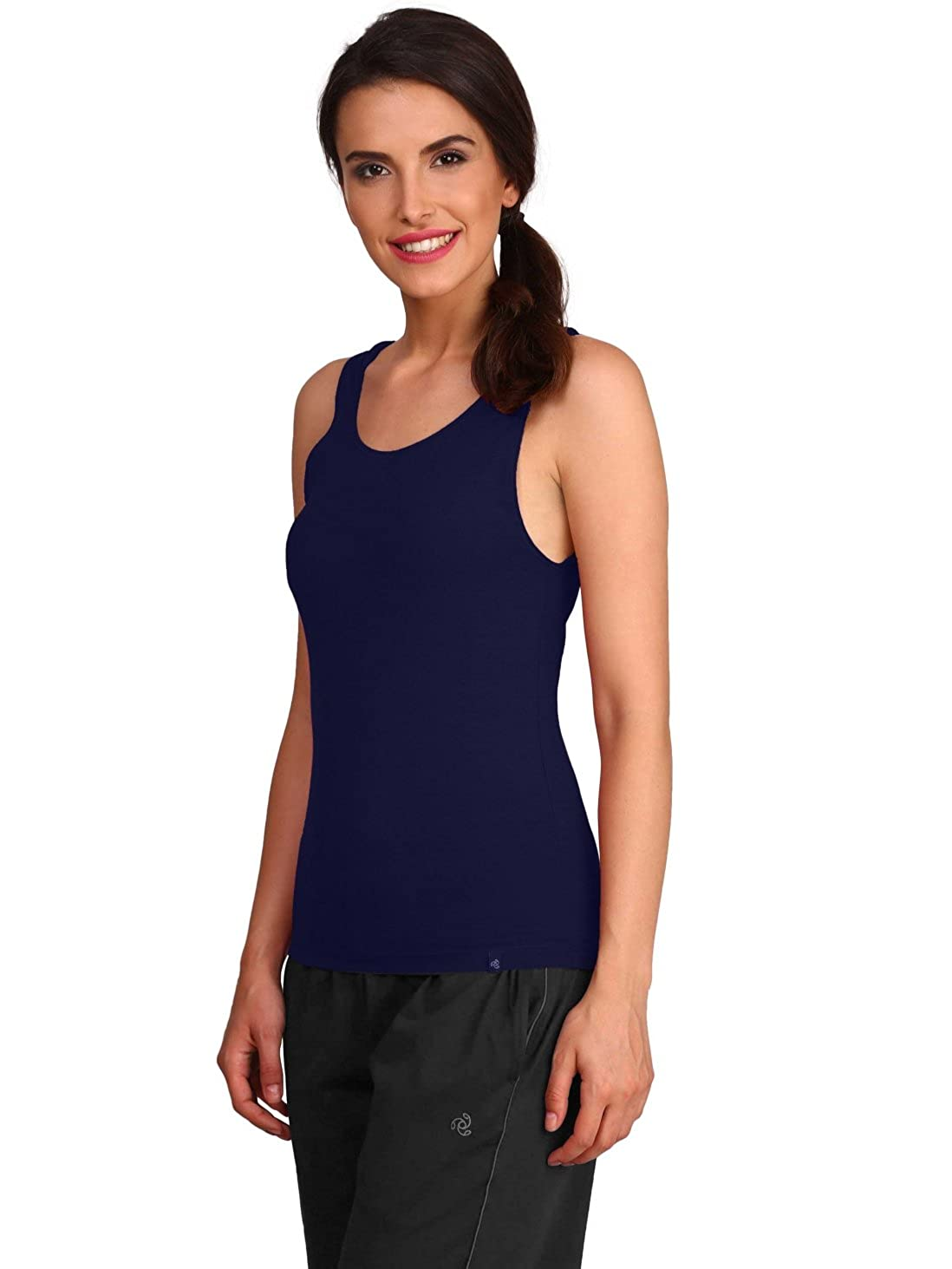 8edf799f84d224 Jockey Women s Cotton Tank Top (1335-0110-IMPBL)  Amazon.in  Clothing    Accessories