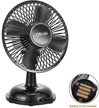 OTraki Mini Ventilador USB Oscilante, Ventilador de Mesa ...
