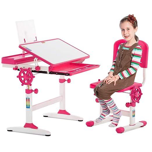 Silla de Escritorio Ajustable para niños, Mesa de Estudio para ...