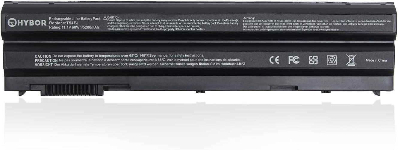 RHYBOR T54FJ 60WH M5Y0X E6420 E5420 Replacement Laptop Battery for Dell Latitude E5420 E5520 E5430 E5530 E6520 E6420 E6530 Inspiron 4420 5420 5425 7420 7520 M421R M521R N4420 N4720 N5420
