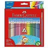 Faber Castell GRIP Watercolor EcoPencils - Premium Art Supplies For Kids (24 Count)