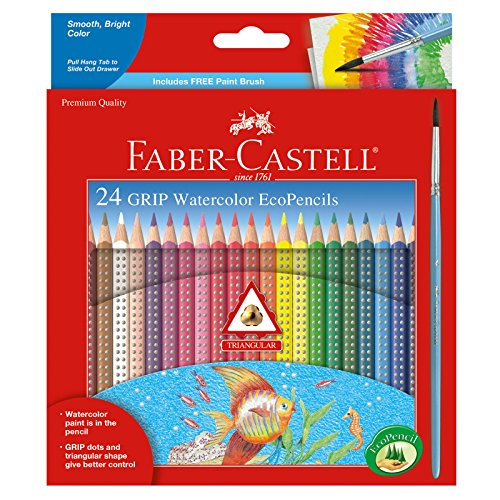 Price comparison product image Faber Castell GRIP Watercolor EcoPencils - Premium Art Supplies For Kids (24 Count)