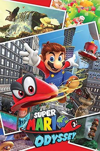 Pyramid PP34229 - Poster con diseño Super Mario Odyssey Collage ...