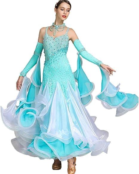 Vestidos de la Competencia de Baile de Salón para Mujeres Falda de ...