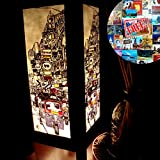 Khaosan Road Handmade Asian Oriental Wood Table Bedside Light Night Lamp Gift Bedroom Garden Shade Frame Free Adapter a Us 2 Pin Plug #424