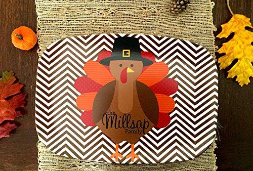 Personalized Melamine Thanksgiving Turkey (Personalized Melamine Platter)