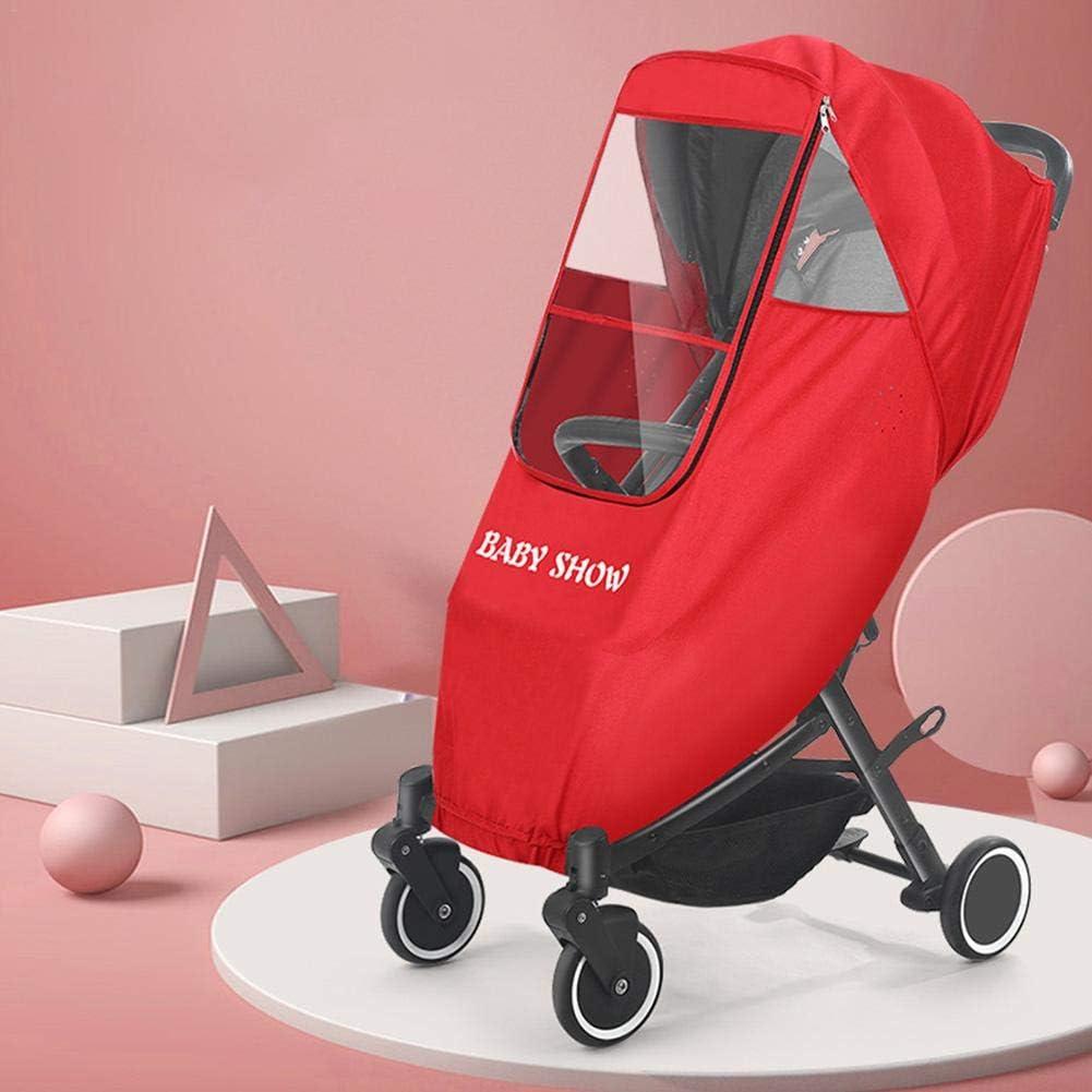 S-tubit Universal Regenschutz F/ür Kinderwagen Bequemes Zugangsfenster Gute Luftzirkulation Schadstofffrei approving Regenverdeck F/ür Buggy