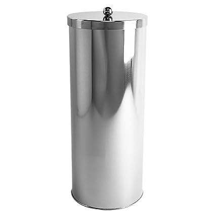 Elegant HUJI Rust Resistant Stainless Steel Toilet Paper Roll Canister Holder For  Bathroom Storage (1,