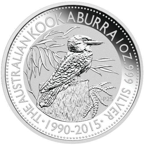 2015 AU 1oz Silver Australian Kookaburra $1 Brilliant - Au Sales