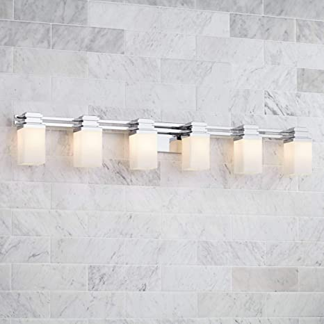 Astounding Possini Euro Design 48 1 2 Wide 6 Light Chrome Bath Light Possini Euro Design Home Interior And Landscaping Staixmapetitesourisinfo