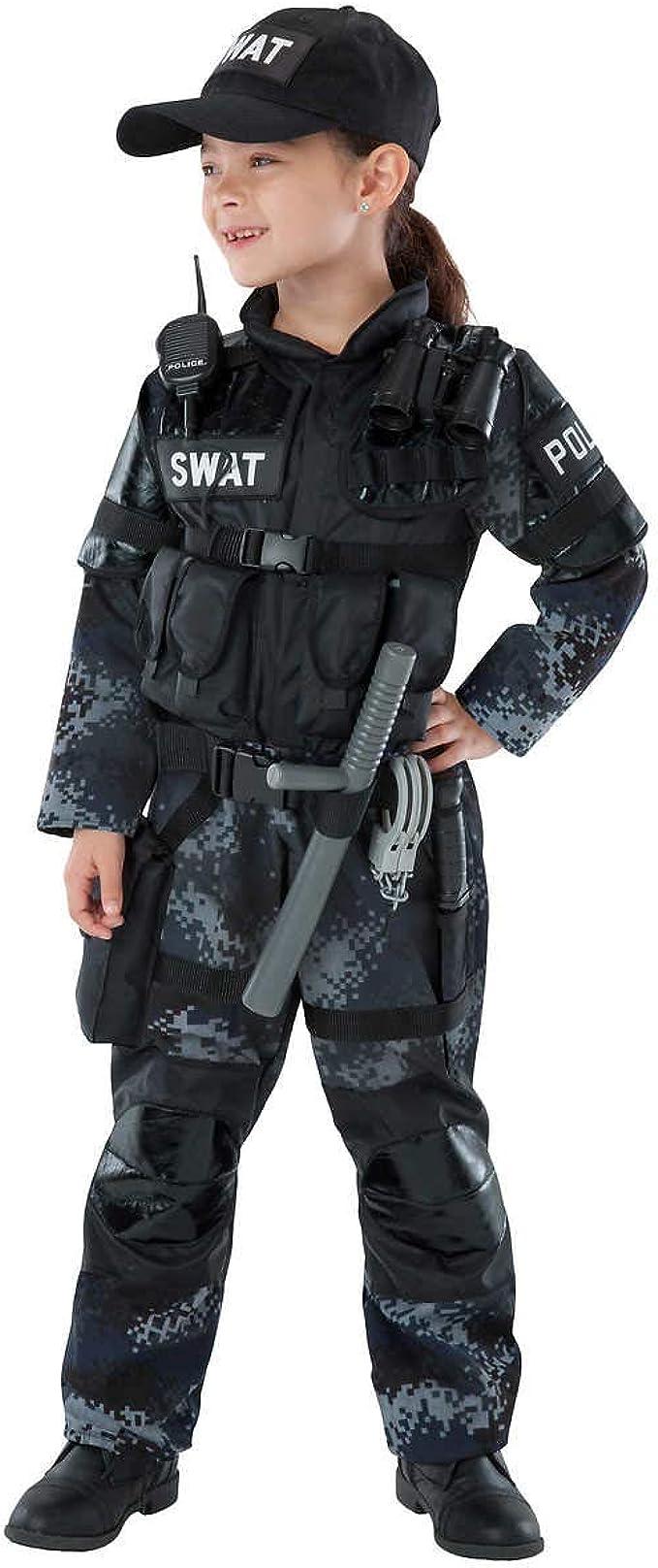 Teetot & Co. Disfraz de Equipo SWAT para niños, Negro, 3/4: Amazon ...