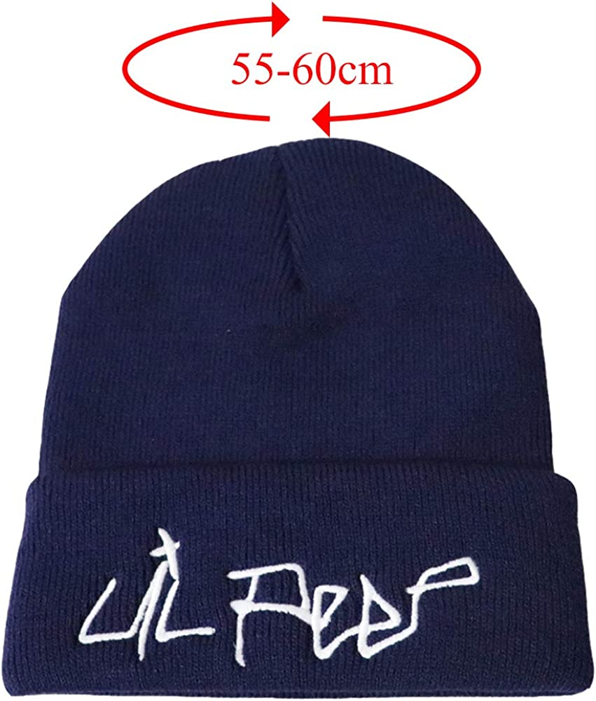 Angoter Men Beanie Embroidery Hat Cool Cotton Beanie Slouch Skull Cap Long Baggy Hip-Hop