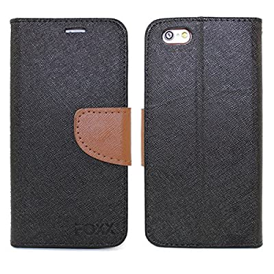 "Iphone 6 Plus, 6S Plus Case, 5.5"" Full-Body Premium PU Leather Wallet Case + Foldable Kickstand By Foxx Electronics"