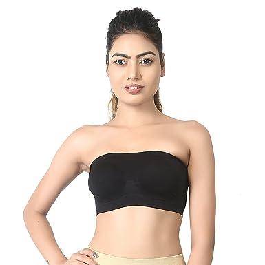 cb13091636569 Fashion World6052 Women s Non Padded Tube Bra (Black