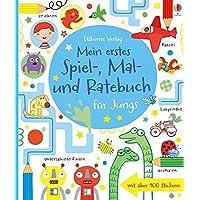 Mein erstes Spiel-, Mal- und Ratebuch für Jungs: Usborne zum Mitmachen