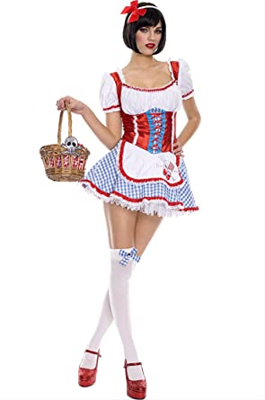 cute and sexy dorothy costume includes head piece and thigh hi(AS SHOWNML  sc 1 st  Amazon.com & Amazon.com: cute and sexy dorothy costume includes head piece and ...
