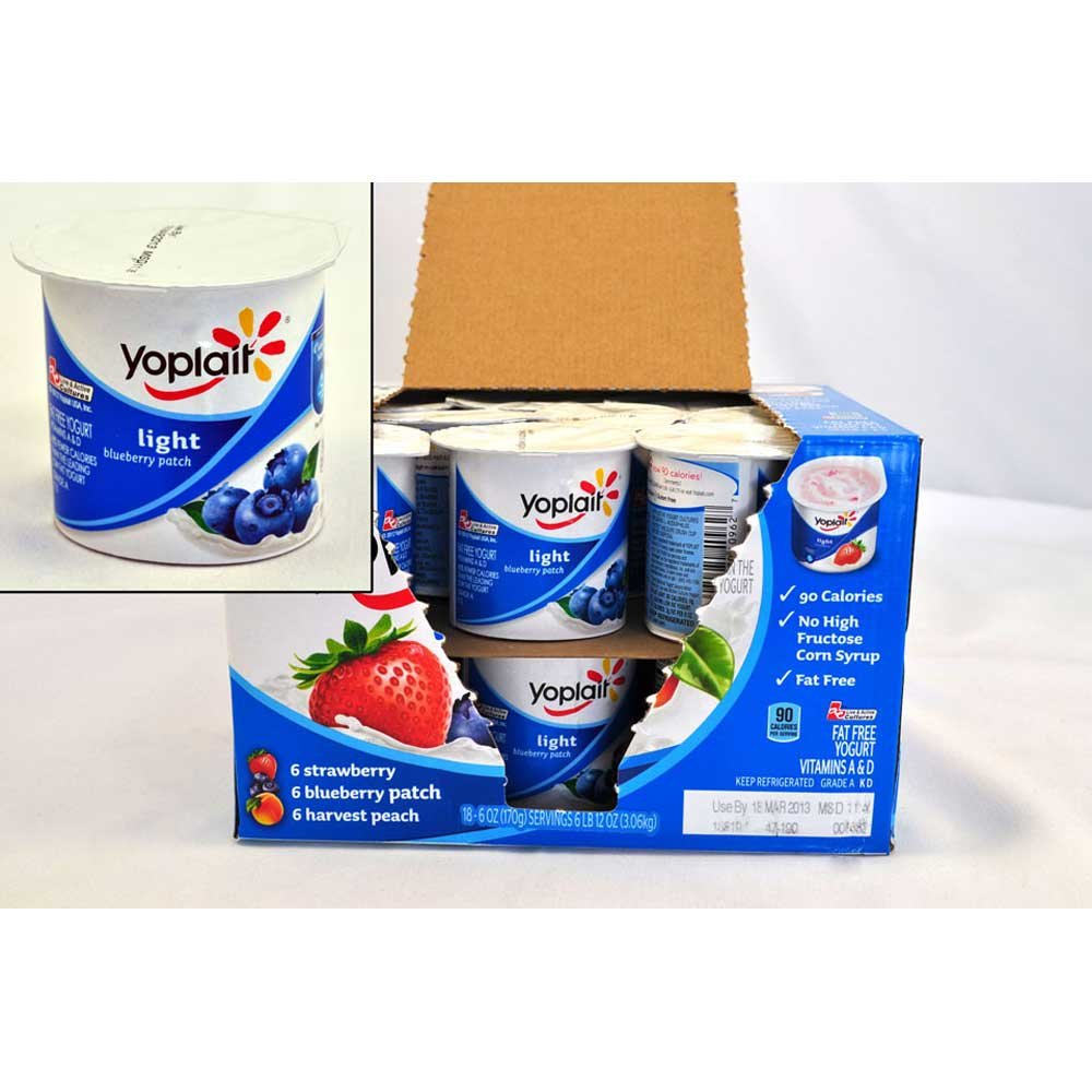 Yoplait Light Variety Pack Yogurt, 6 Ounce - 18 per pack -- 18 packs per case.