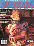 img - for Americana, March/April 1986, Volume 14, Number 1: Folk Horses from Wood book / textbook / text book