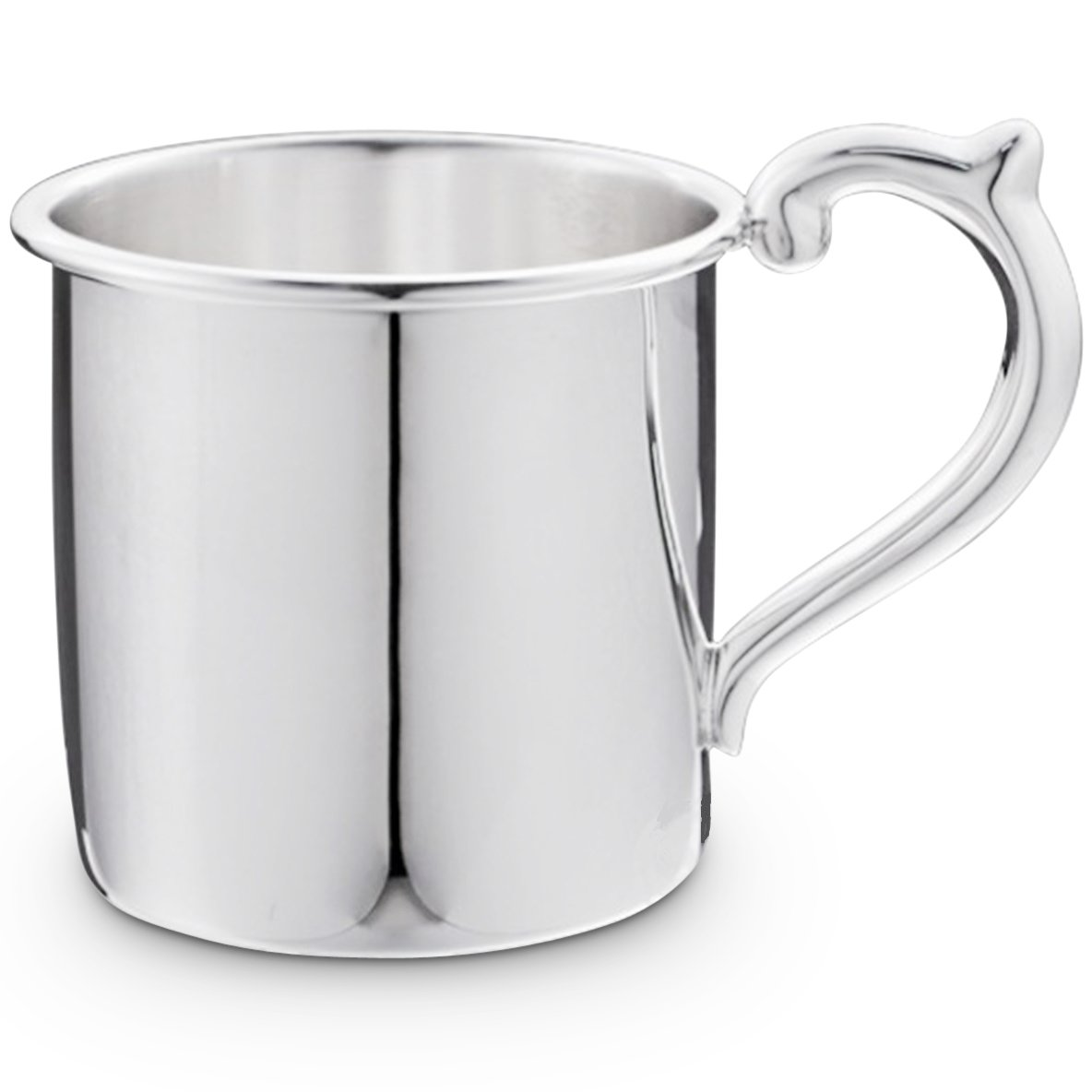 Cunill 3.5-Ounce Plain Baby Cup, 2.12-Inch, Sterling Silver