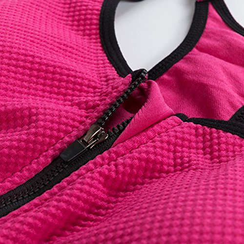 Sujetador Deportivo Mujer Sujetadores Tops Bra Gym Yoga rosa
