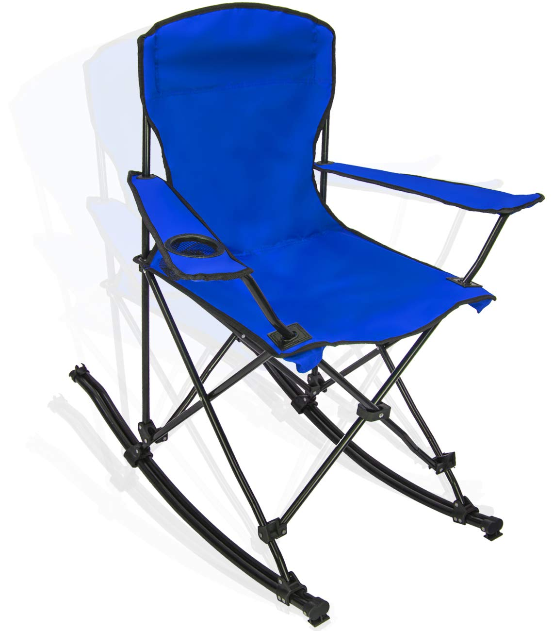 Tremendous Sorbus Quad Rocking Chair With Cup Holder Cooler Foldable Frame Portable Carry Bag Recliner Chair Great Outdoor Chair For Camping Sporting Events Machost Co Dining Chair Design Ideas Machostcouk