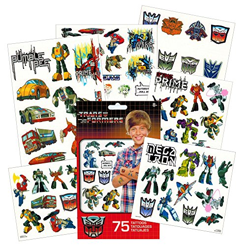 Transformers Temporary Tattoos Party Favor Set (75 Temporary -