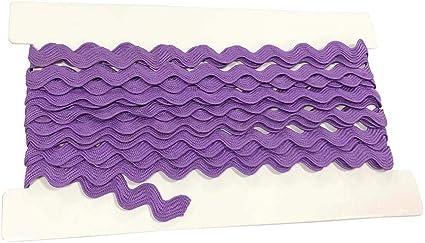 5M per Cards Rick Rack Trim 12mm Width Polyester Baby Ric Rac Trim Purple