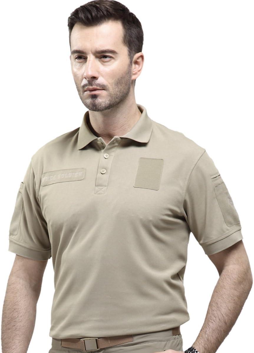 Remera manga corta para hombres de Free Soldier, camiseta con ...