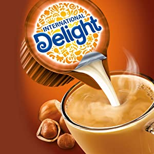 International Delight, Caramel Macchiato, Single-Serve Coffee Creamers, 288 Count (Pack of 1), Shelf Stable Non-Dairy Flavored Coffee Creamer, Great for Home Use, Offices, Parties or Group Events