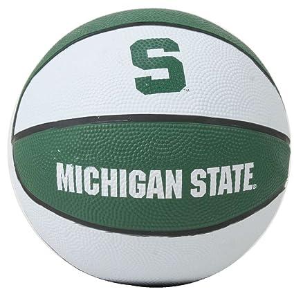 Amazon com : Michigan State Spartans Mini Rubber Basketball