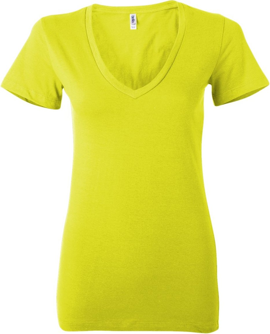 6035 Bella+Canvas Ladies' Jersey Deep V-Neck Tee Bella + Canvas
